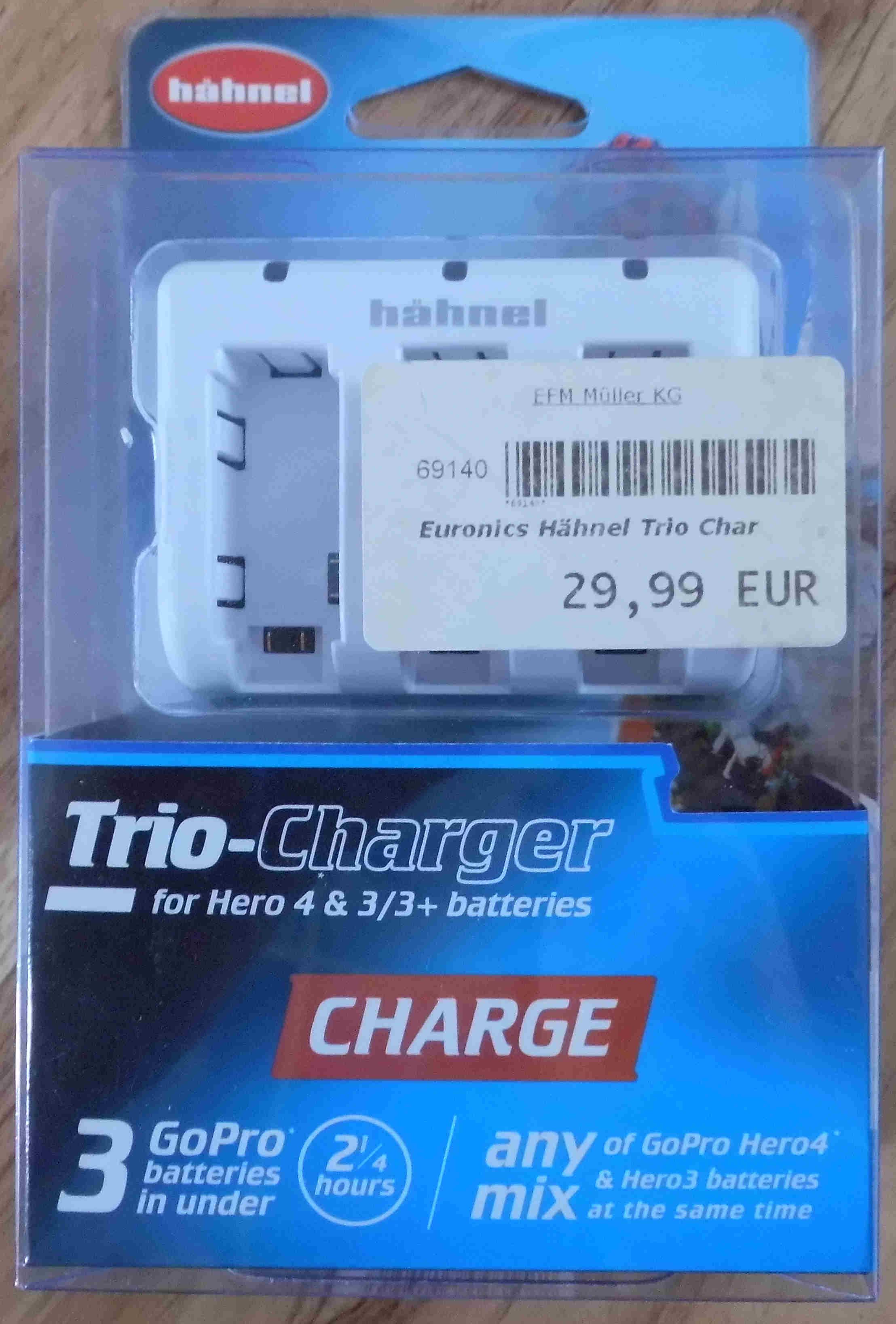 Artikelbild Hähnel Trio Charger für Hero 3 & 4 Batterien